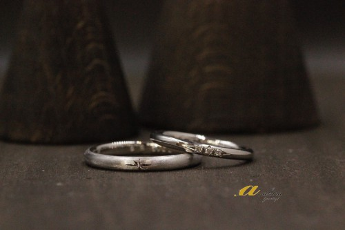 東京都からのお客様、鍛造製法の結婚指輪のオーダーメイド
