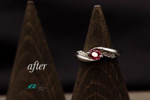 袖ヶ浦市からお越しのお客様ルビーの指輪リフォーム