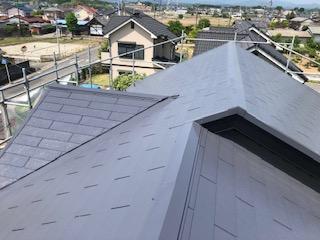 坂戸市で屋根コロニアルの遮熱塗装工事が完了致しました
