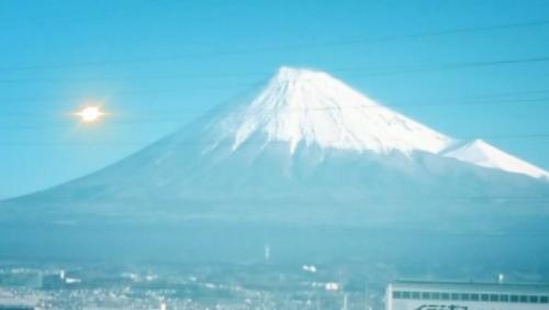 富士山に感謝しましょう。