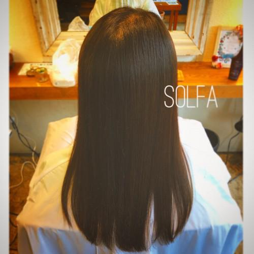 SOLFAの美髪ストレートで艶髪に