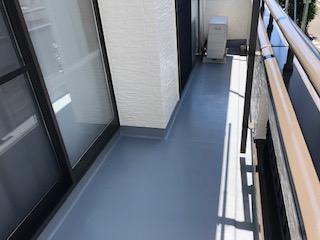鶴ヶ島市でバルコニーFRP塗装工事が完了致しました