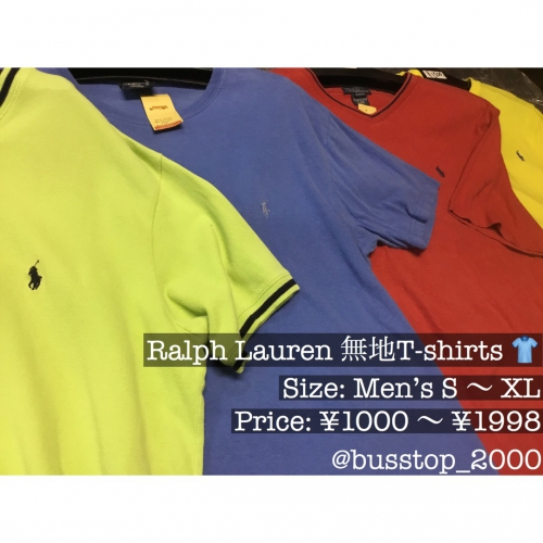 Ralph Lauren の無地Tシャツ入荷です!