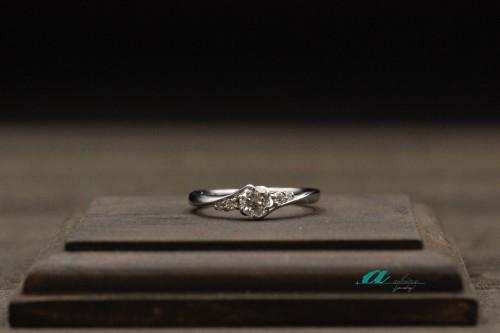 船橋市からお越しのお客様婚約指輪の御納品でした