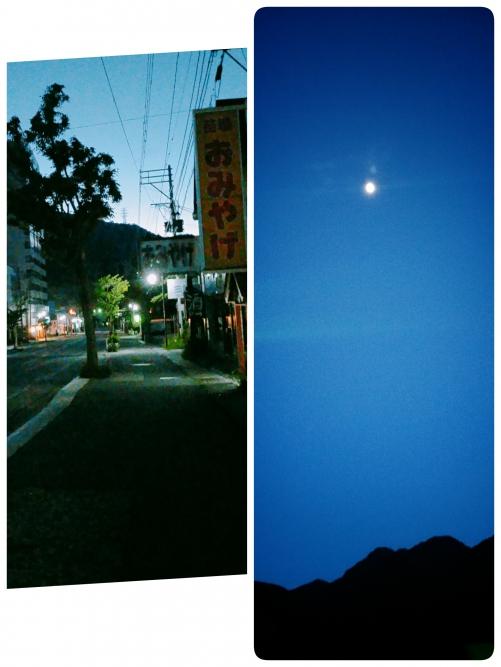 苗場からの月が綺麗です!