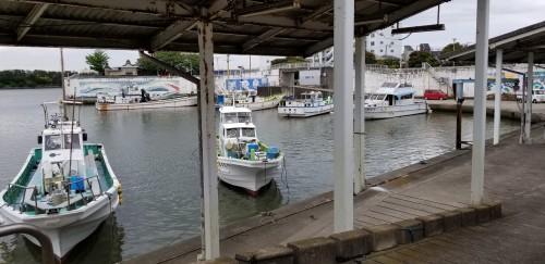 相模川河口付近にある避難港(平塚須賀港)