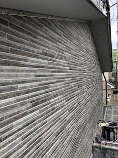越生町で外壁カバー工法ガルバサイディング施工しました