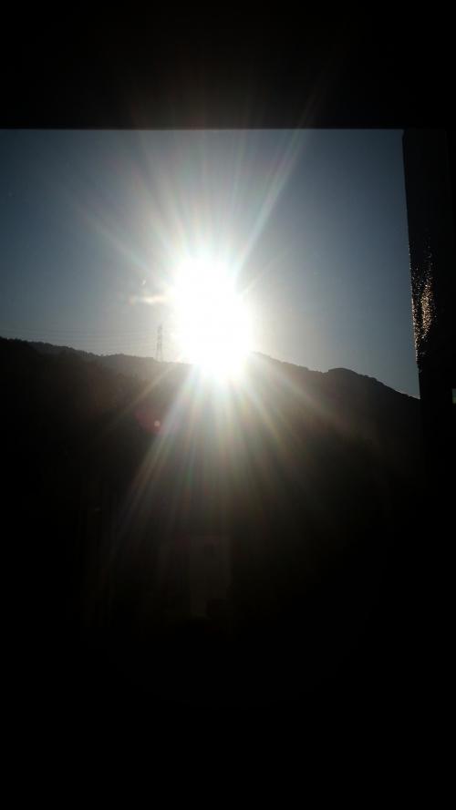 快晴の朝です(^^)