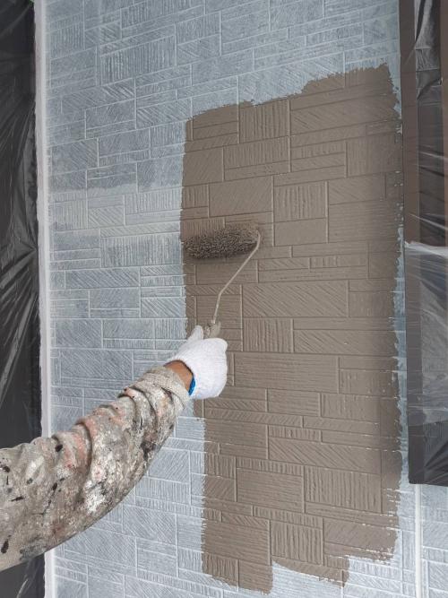 新座市壁中塗り施工