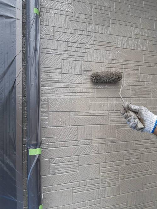 新座市壁上塗り施工