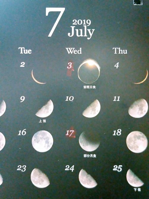 7月、新月~満月の祈り