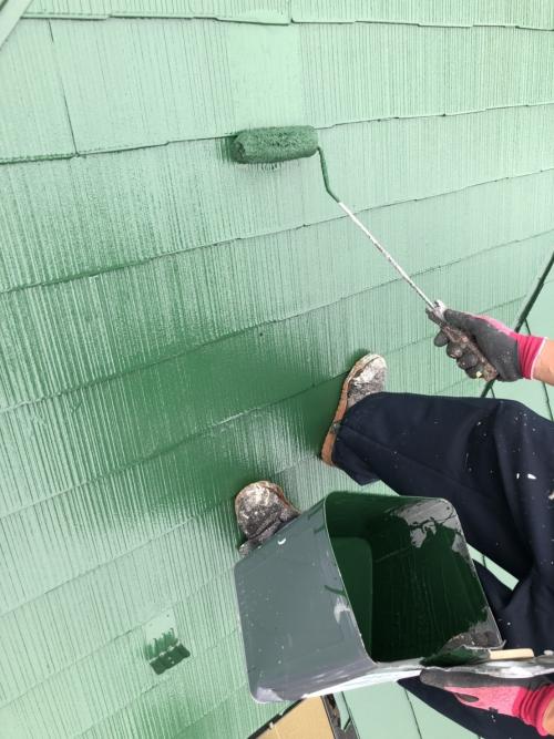 さいたま市中央区屋根上塗り施工