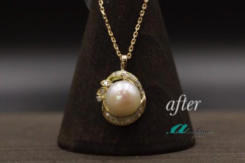 真珠の指輪をペンダントに変更いたしました