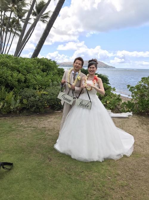 ハワイキャルバリー結婚式花嫁