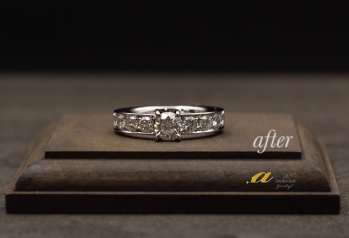 2本の指輪を1本にリフォーム致しました