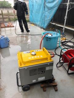 坂戸市で外壁高圧洗浄工事を施工しました
