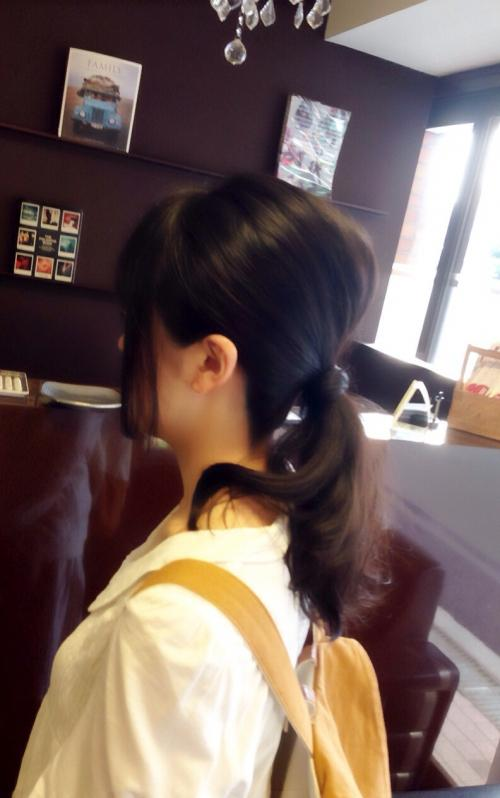 盛り髪ポニーテール アレンジ 美容院