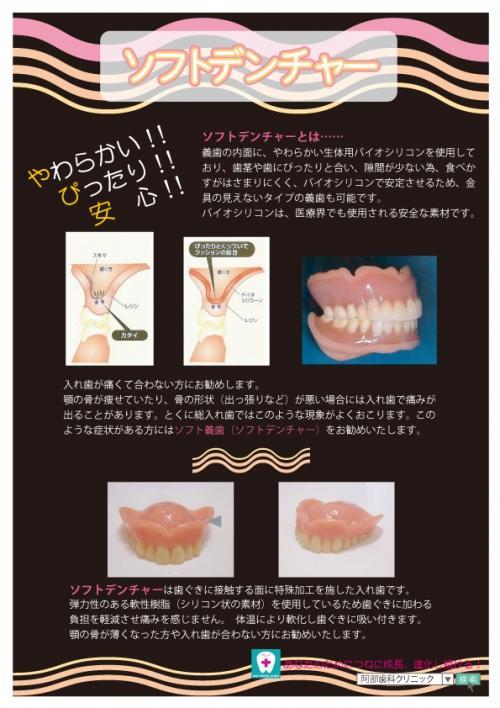 足利市歯科医療情報 こんな入れ歯もあります。