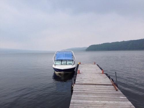 山中湖、大雨です(・・;)