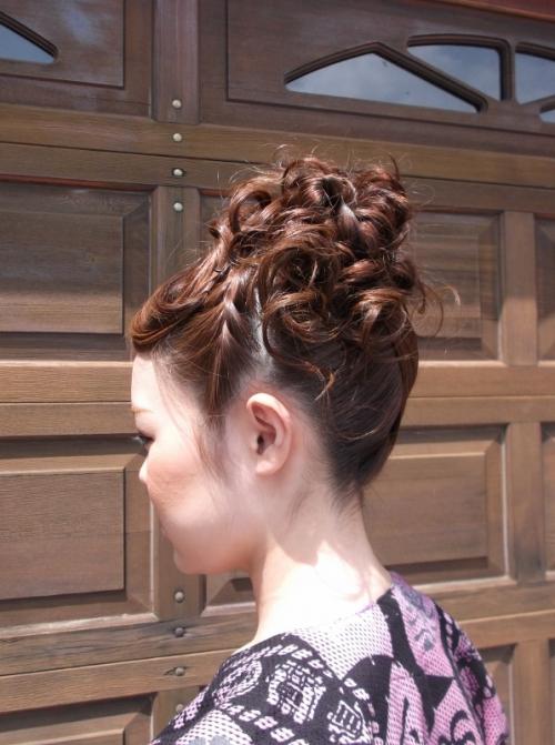 お祭りヘアセット