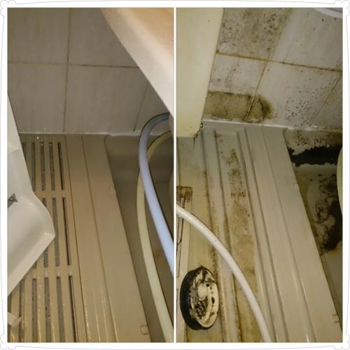 藤沢市で浴槽の裏側洗浄