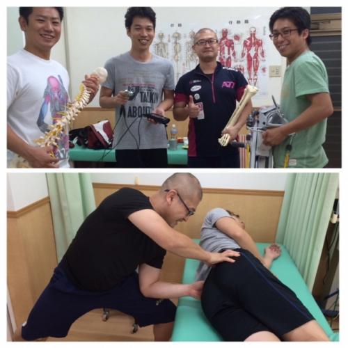 病院時代の仲間と腰痛勉強会