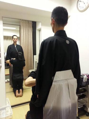 紋付袴の着付け講習