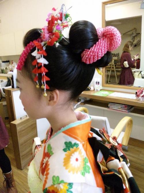七五三で人気の新日本髪♪