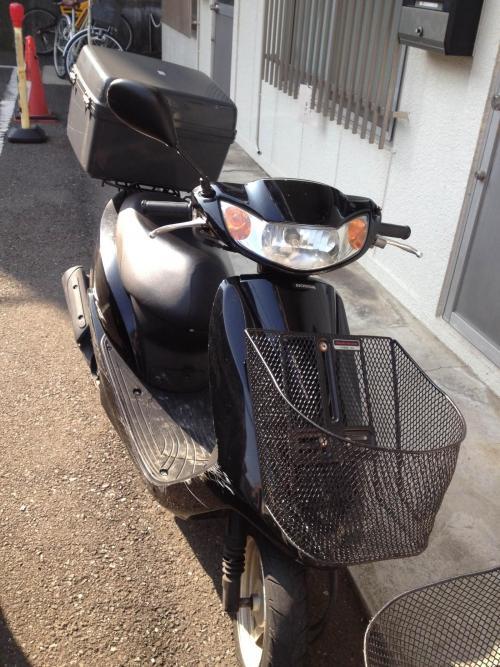 原付バイクでの配布!!