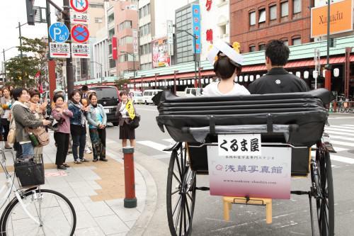 神前式&結婚写真前撮りは人力車に乗ってGO!