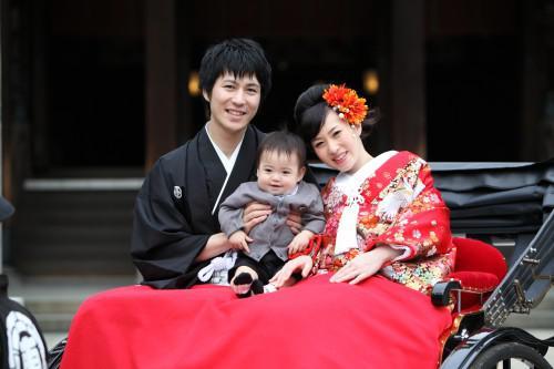 """""""心残りの和装写真""""結婚一周年記念に撮影!家族も増えて!!"""