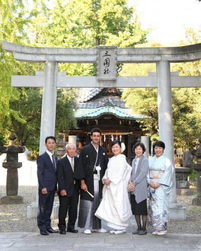 写真婚IN浅草 着物は外国人の方が着ても絵になるな!